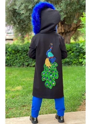 Riccotarz Kız Çocuk Tavuskuşu İşlemeli Ceketli 5li Alt Üst Takım Renkli